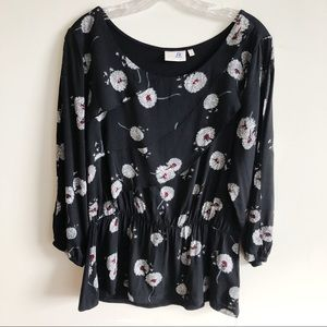 Anthropologie Deletta Wished Blooms Floral Top M